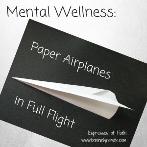 Mental Wellness- Paper Airplanes in Full Flight
